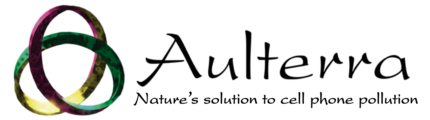 Aulterra text with mobius strip logo
