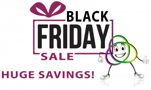 Words Black Friday Sale with Purple Bow