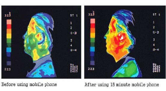 Infrared illustration of mans head