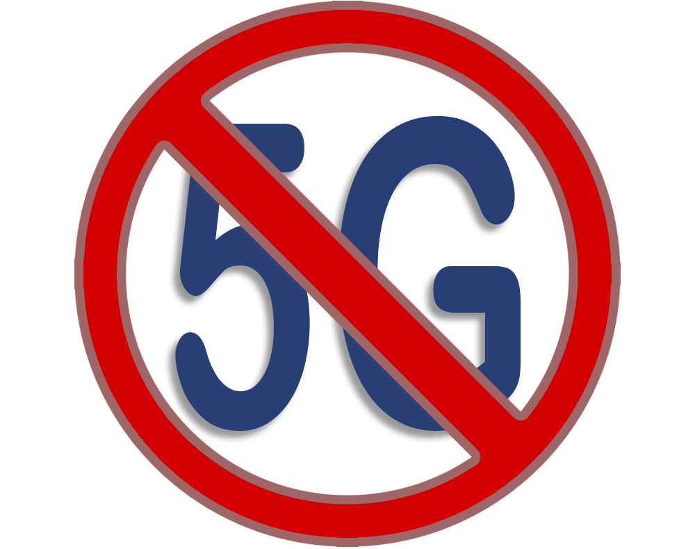 5G prohibited sign